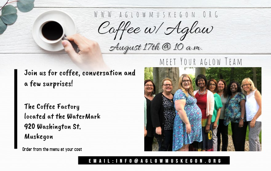 August 17 at 10am Join us for coffee, coversation and a few surprises!  The Coffee Factory location at the Watermark  Order from the menu at your cost